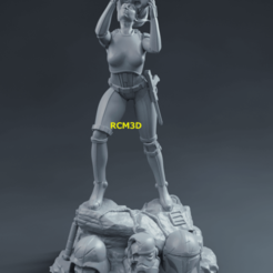 Add Watermark_2020_10_12_08_53_48.png Download STL file Lady Stormtrooper • 3D printable object, RCM3D