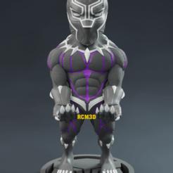 Add Watermark_2020_09_01_08_16_05 (4).png Download STL file Black panther (Pantera negra) marvel • 3D printing design, RogerioCorreadeMelo