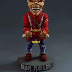 Add Watermark_2020_08_18_11_59_10.png Download STL file Iron Maiden Eddie (The trooper) • 3D print template, RogerioCorreadeMelo