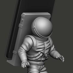 astronalta.jpg Télécharger fichier STL support de téléphone portable pour astronaute • Objet pour imprimante 3D, RCM3D