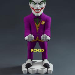 Add Watermark_2020_10_18_02_55_54 (3).png Download STL file Joker (Coringa) cellphone and joystick holder • Template to 3D print, RogerioCorreadeMelo