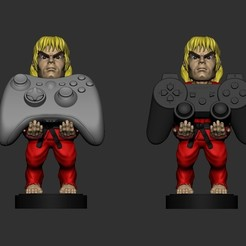ken1.jpg Download STL file Ken Street Fighter cellphone and joystick holder  • 3D printable template, RCM3D