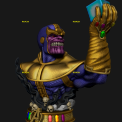 Add Watermark_2020_10_30_03_43_28 (4).png Download STL file Thanos bust marvel  • 3D print template, RCM3D