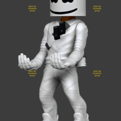 Add Watermark20200623074031 (3).png Download STL file Fortnite Marshmellow  • 3D print template, RogerioCorreadeMelo