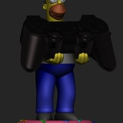 Download 3D printer designs Homer simpson cellphone and joystick holder, RogerioCorreadeMelo