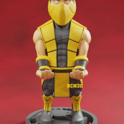 Add Watermark_2020_09_19_04_29_58.png Download STL file Mortal kombat (scorpion or all ninjas) cellphone and joystick holder  • Object to 3D print, RogerioCorreadeMelo