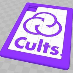 Taquin-Cults.jpg Download free STL file Taquin CULTS / Sliding Puzzle • 3D print model, Valelab3D