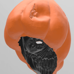 5.png Télécharger fichier STL Masque Potiron Possédé • Plan pour impression 3D, RubenCastanho