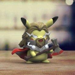 Download 3D print files Pikachu Thor, RubenCastanho