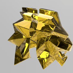 Download 3D printing templates Neon lion mask, RubenCastanho