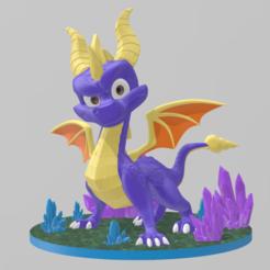 1.png Download STL file Spyro reignited • 3D printable design, RubenCastanho