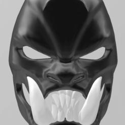 Descargar STL máscara de demonio samurai, RubenCastanho