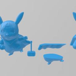Télécharger fichier impression 3D Pikachu Captain America, RubenCastanho