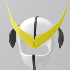 Download 3D printing templates Casshern helmet, RubenCastanho