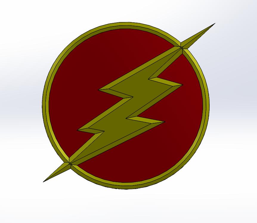 Capture.PNG Download free STL file Flash Logo • 3D printing design, Lys