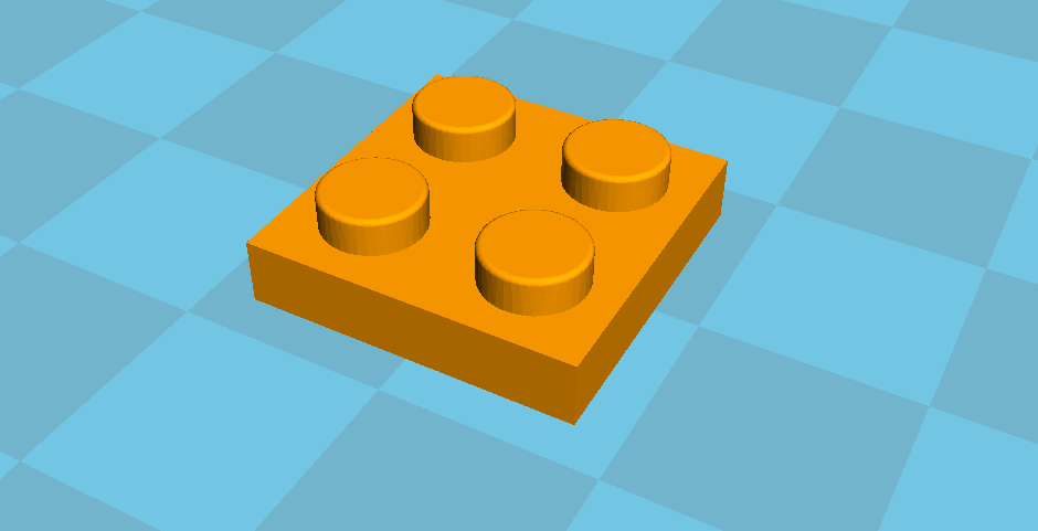lego1.PNG Download free STL file Plate 2x2 lego • Design to 3D print, Lys