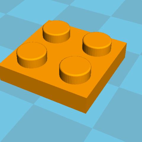 Fichier 3D gratuit Plaque légo 2x2, Lys