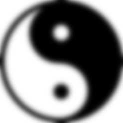 yianyang rond.STL Download free STL file Yin & Yang • 3D print design, Lys