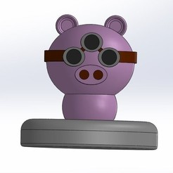 Fichier STL gratuit Piggy, Lys