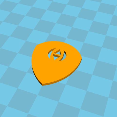 Fichier STL gratuit mediator guitare / guitar pick, Lys