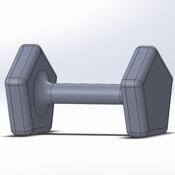 Download free STL Sand dumbbell, Lys
