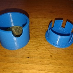 Download free 3D printer templates Portable ashtray, Lys
