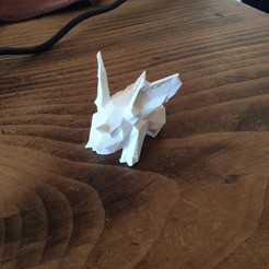 Free 3D printer designs Nidoran Low-Poly pokemon, Lys