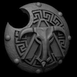 51415500_10157003709702389_4411861797397594112_n.jpg Download free STL file Greek Inspired Sci Fi Shield • 3D print object, Rethonn