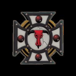 tanksymbol3.1.png Download free STL file Minotaur Vehicle Icon • 3D printable design, Rethonn