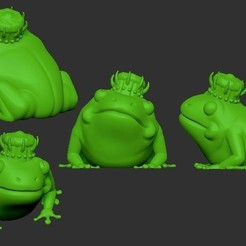 Free 3D printer designs Frog King, SparkyFace5