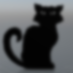 Free STL file Black cat, MisterDiD