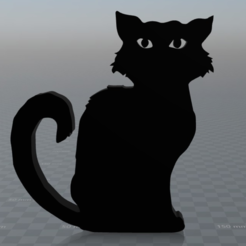 Free Black cat STL file, MisterDiD
