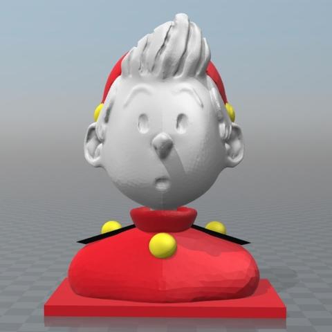 Capture d'écran 2017-09-29 à 11.32.45.png Download free OBJ file Bust of Spirou • 3D printable template, MisterDiD