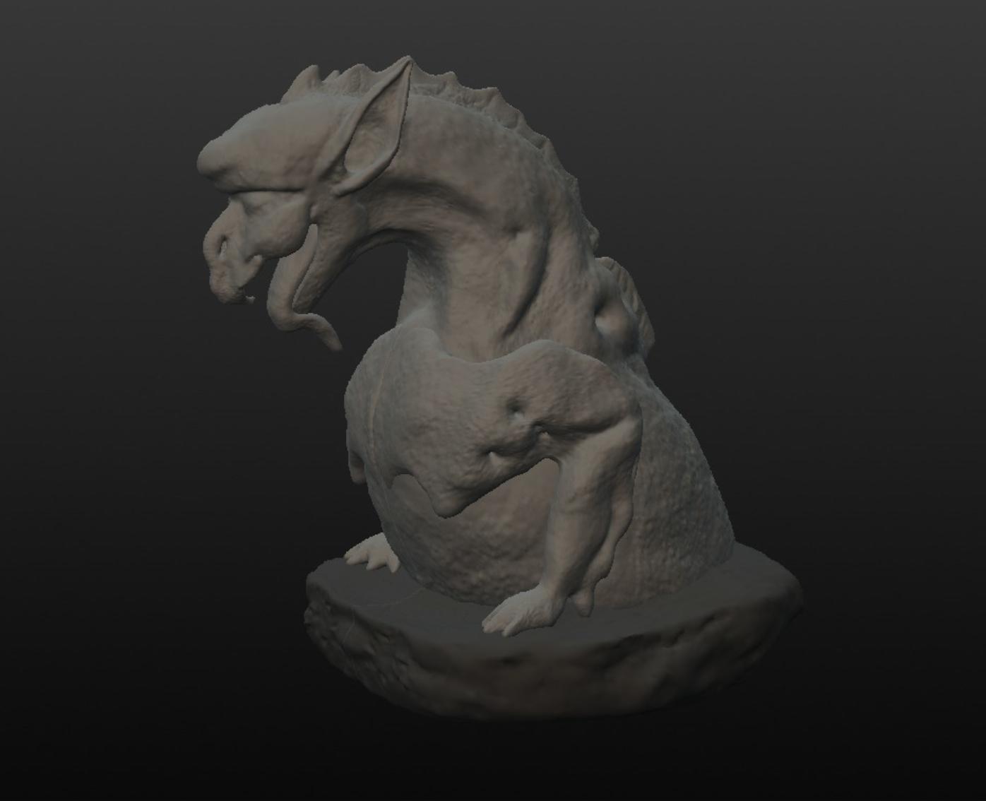 Capture d'écran 2017-09-29 à 12.07.46.png Télécharger fichier OBJ gratuit Gargouille 2 inspirée de la cathédrale Notre Dame de Paris • Design pour impression 3D, MisterDiD