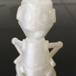 Download free 3D printing templates bust of Nono the little robot, MisterDiD