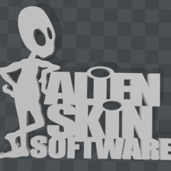 Free 3D printer designs Alien Skin LOGO, MisterDiD