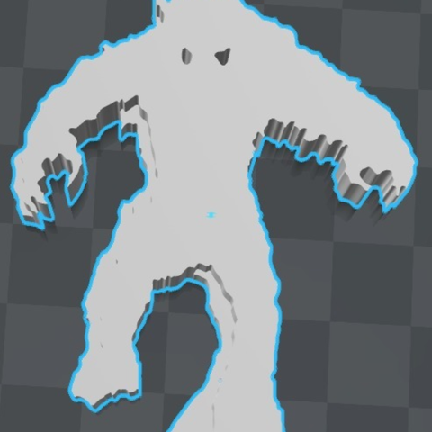 Free STL Space invader monster keychain ・ La Poste