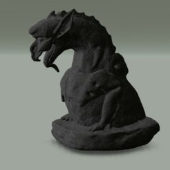 Download free 3D printer designs gargoyle 2 inspired by Cathedral Notre Dame from Paris, MisterDiD