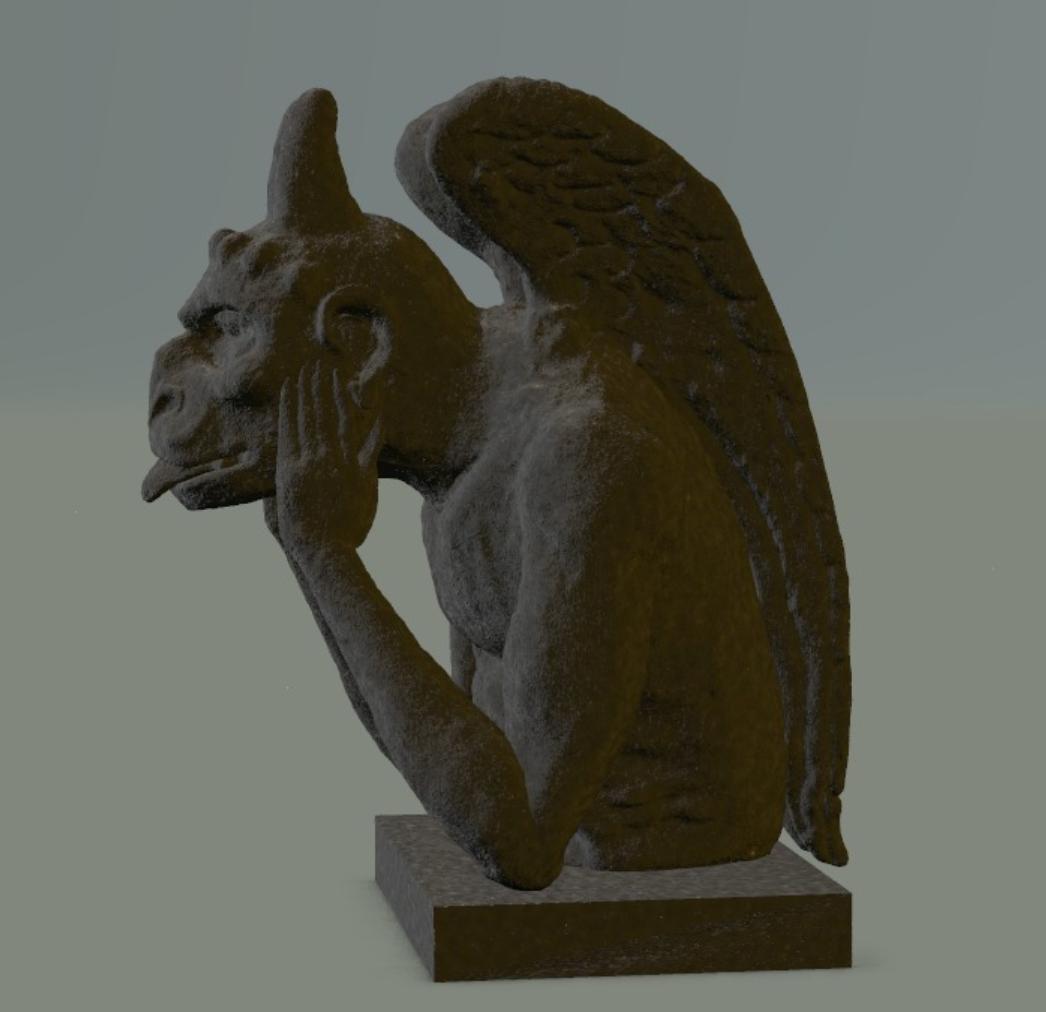 Capture d'écran 2017-09-29 à 12.01.33.png Télécharger fichier OBJ gratuit The Stryge Cathedral chimères Notre Dame de Paris par Viollet-le-Duc • Objet pour imprimante 3D, MisterDiD