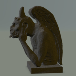 Free The stryge Cathedral chimeras Notre Dame from Paris by Viollet-le-Duc 3D printer file, MisterDiD