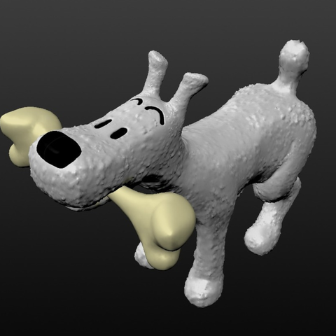 Capture d'écran 2017-09-29 à 11.22.19.png Download free OBJ file comic dog belgium • 3D printing model, MisterDiD