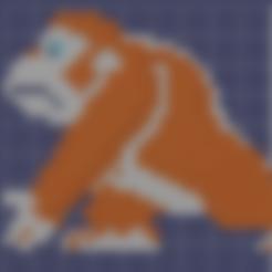 Télécharger modèle 3D gratuit Donkey kong 8 bits, MisterDiD