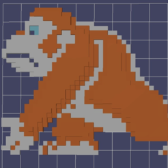Download free 3D printer templates Donkey kong 8 bits, MisterDiD