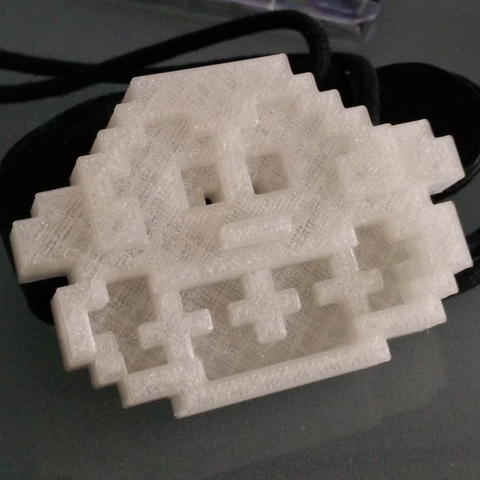 Free Donkey kong head pixelart 3D printer file, MisterDiD