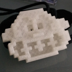 Free Donkey kong head pixelart 3D printer file, MisterDiD