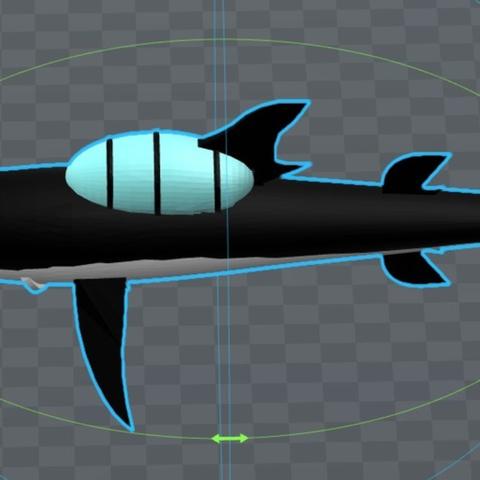Capture d'écran 2017-09-29 à 11.07.59.png Download free OBJ file tintin submarine shark • Design to 3D print, MisterDiD