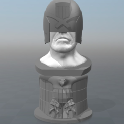 Free Judge dredd Bust 3D model, MisterDiD
