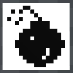 Free 3D print files Atari St Bomb crash icon magnet, MisterDiD
