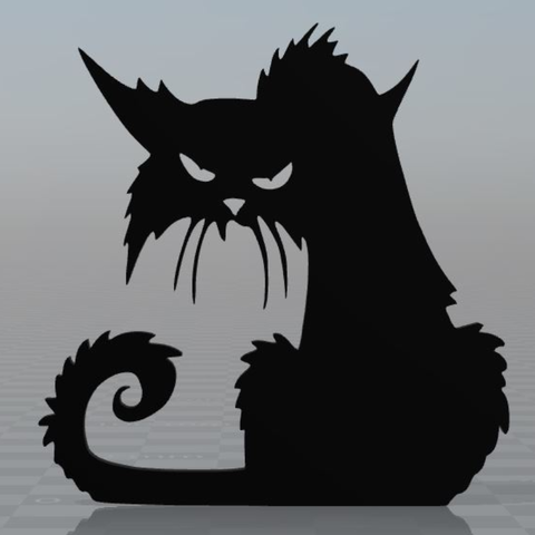 Free 3d print files Scary cat magnet, MisterDiD