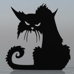 Free Scary cat magnet 3D printer file, MisterDiD